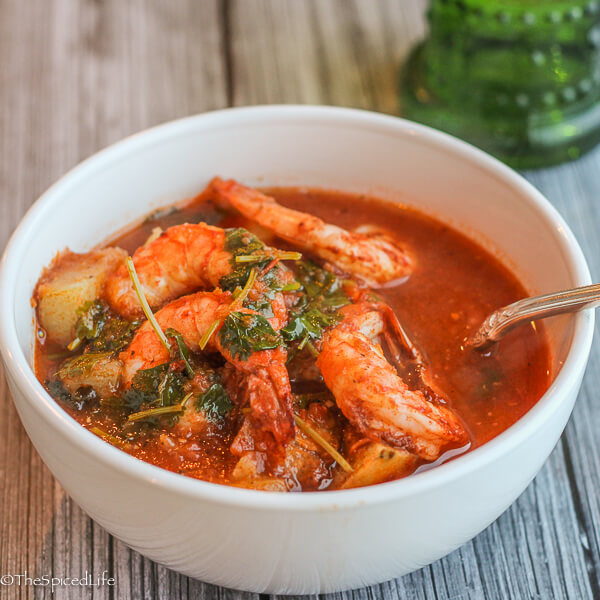 Mexican Roasted Shrimp and Potato Stew: super easy and super delicious!