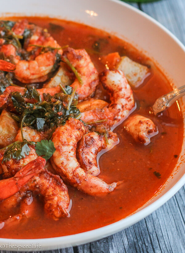 Mexican Spicy Roasted Shrimp and Potatoes Stew: super easy and super delicious!