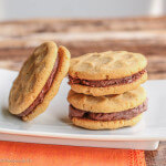 Peanut Butter Sandwich Cookies with Peanut Butter Chocolate Ganache: #CreativeCookieExchange