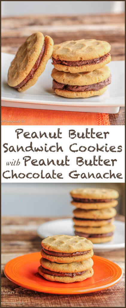 Peanut Butter Sandwich Cookies with Peanut Butter Chocolate Ganache: # ...