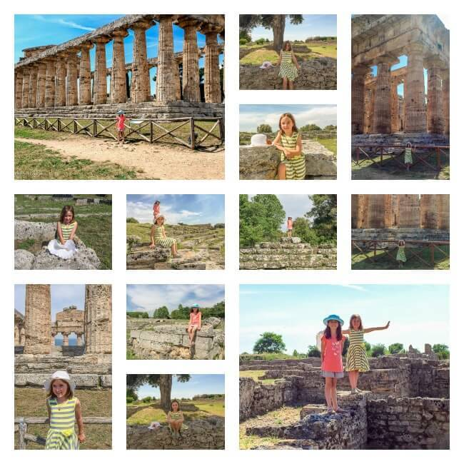 Kids at Paestum, Italy