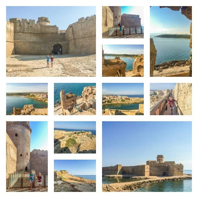 Le Castella--views of and from the Aragonese fortress on the Calabrian coast of Italy