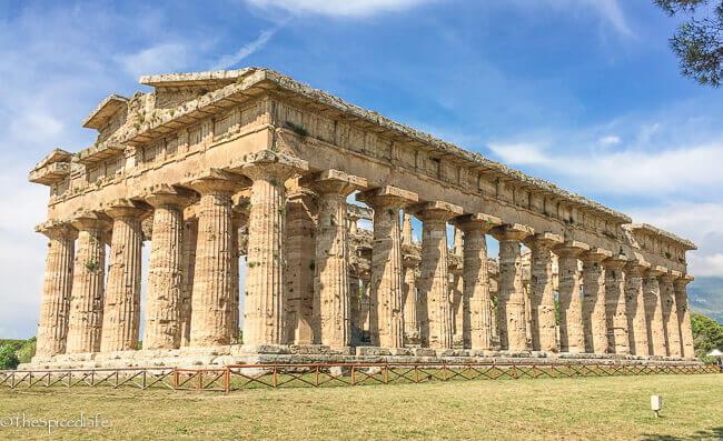 Neptune Temple in Paestum, Italy