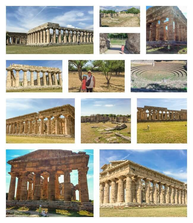 Greek and Roman ruins in Paestum, Italy