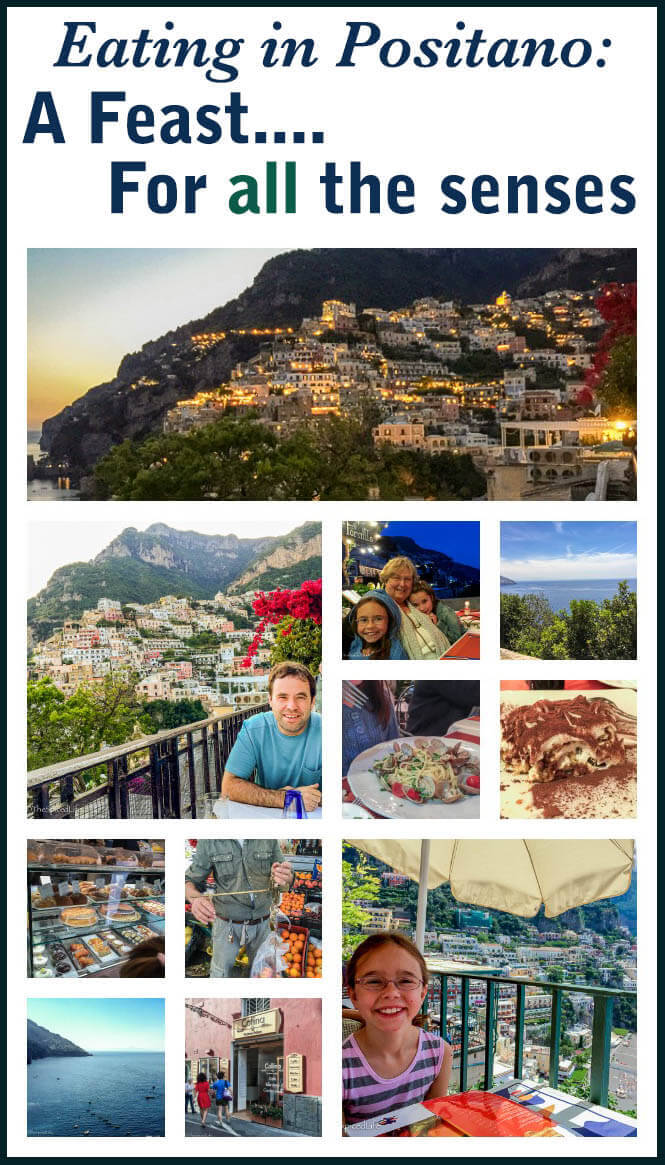 Dining out in Positano