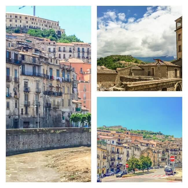 Views of Old Cosenza in Calabria, Italy
