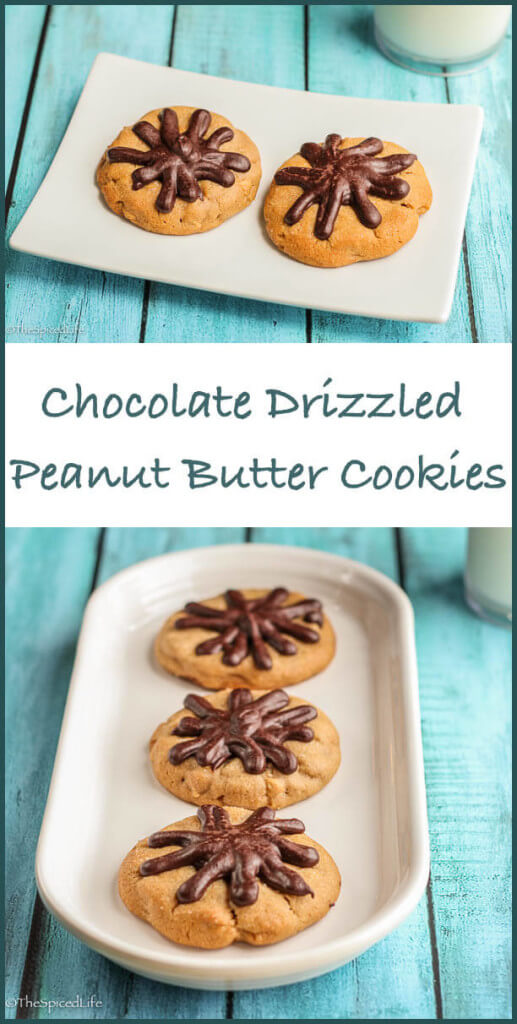 Chocolate Drizzled Peanut Butter Cookies--chewy, rich, delicious!