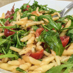 Pasta with Peaches, Prosciutto and Arugula: Cooking in Italy