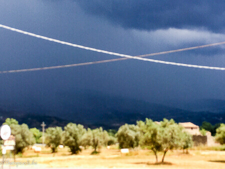 Storm moving in Calabria, Italy