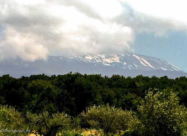 Mount Etna as seen from driving around it