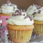Mint Chocolate Chip Cupcakes: a creme de menthe cake with mini chocolate chips is topped with a whipped cream buttercream and truly outdoes the ice cream!