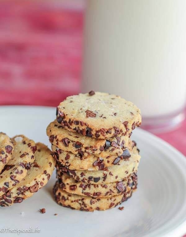 These Nibby-Chocolate Olive Oil Cookies are delicious and unique! Because they are slice and bake, they can be made ahead to bake off for your holiday table or any other occasion.