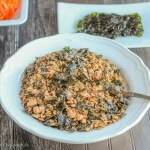 Japanese Inspired Sesame Nori Granola: Sweet, salty and full of unami goodness, this is a great snack, and great for sprinkling in place of croutons on salads!