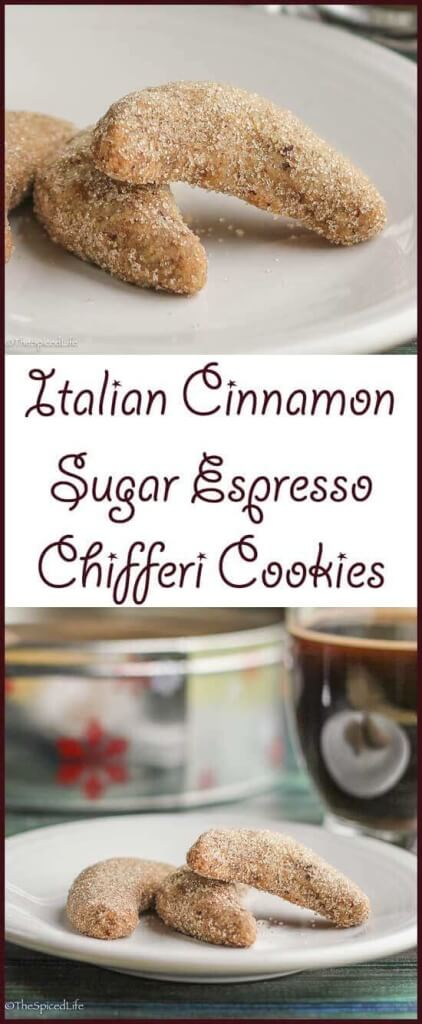 Italian Chifferi Cookies with Espresso and Cinnamon-Sugar are a fun twist on wedding cookies.