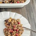 Cranberry Stuffing with Apples, Mushrooms and Wild Rice will be the vegetarian hit of your holiday meal!