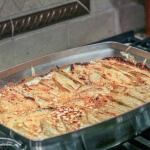 Gruyere Potato Gratin is the perfect potato side dish for a holiday meal: luxurious, rich and creamy, your guests will love it!