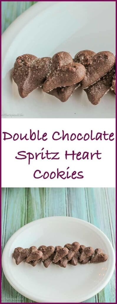 Double Chocolate Spritz Heart Cookies