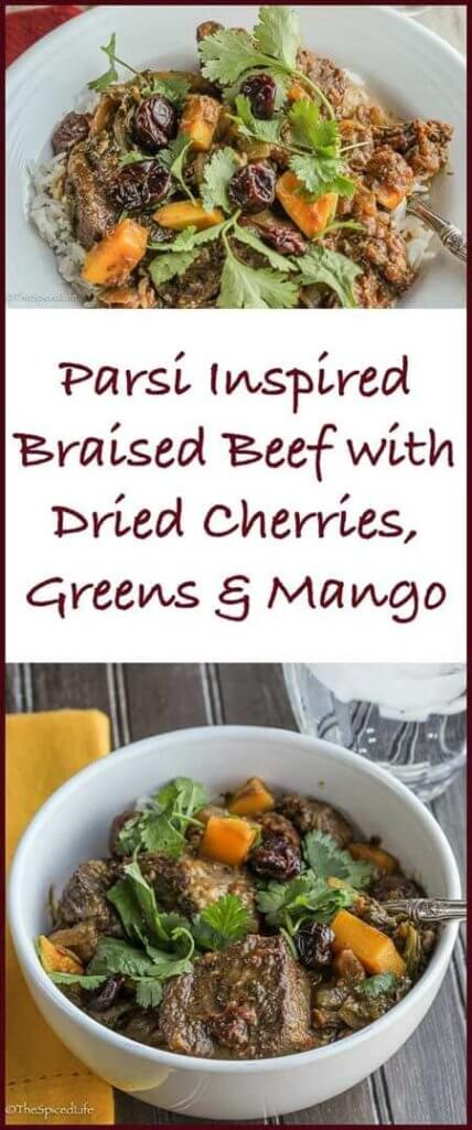 Parsi Inspired Braised Beef with Dried Cherries