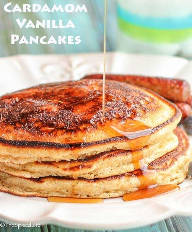 Cardamom Vanilla Pancakes