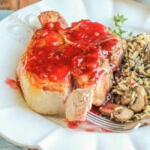 Red Currant Glazed Pork Chops