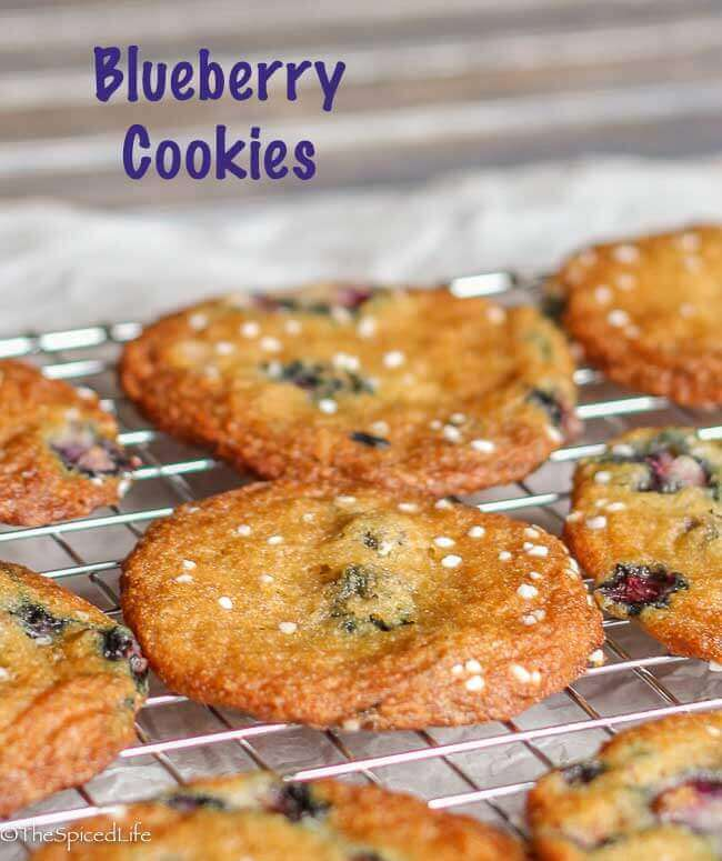 Blueberry Cookies made with fresh blueberries