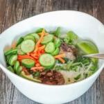 Easy Vietnamese Meatball Noodle Soup