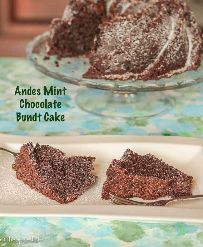 Andes Mint Chocolate Bundt Cake