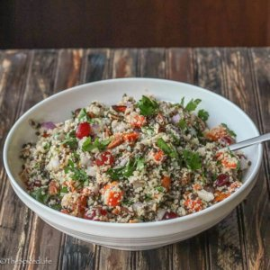 Couscous Salad with Lentils, Butternut Squash and Grapes