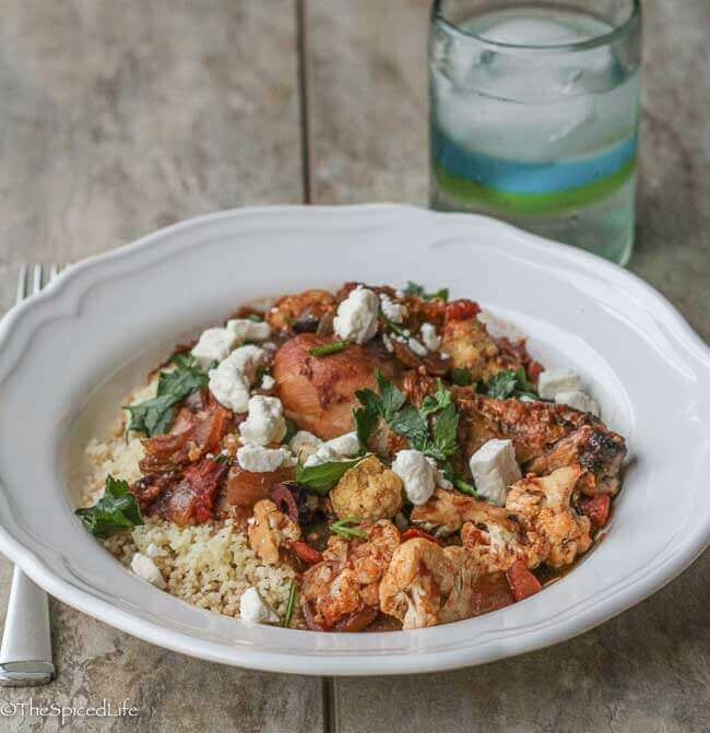 Greek Chicken Stew with Cauliflower