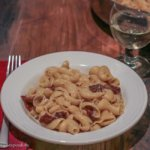 Pasta alla Gricia with guanciale and pecorino romano