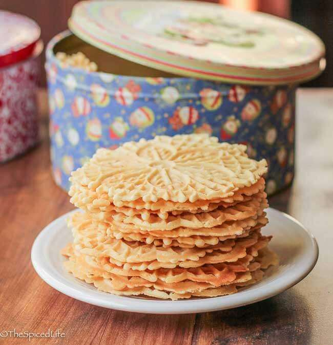 Pizzelle Cookies, traditional anise and citrus vanilla