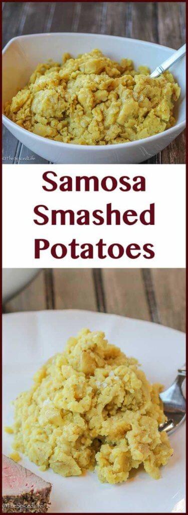 Samosa Smashed Potatoes