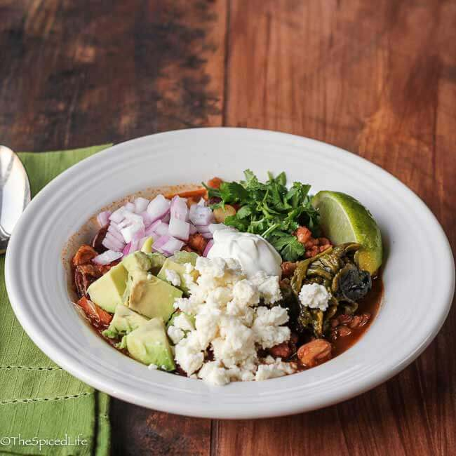 Vegetarian Pozole (Posole) with Scarlet Runner Beans