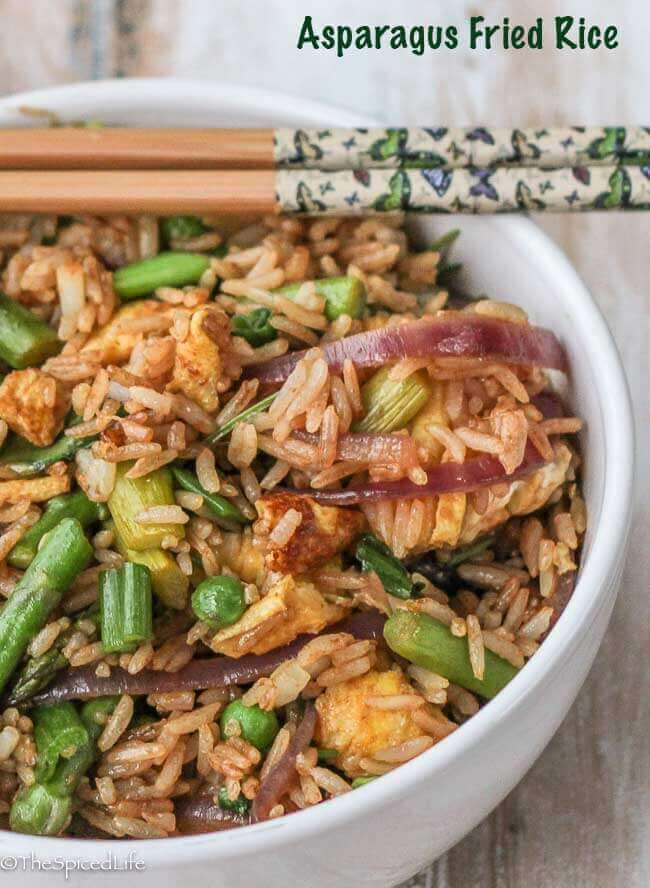 Asparagus Fried Rice--easy and vegetarian!