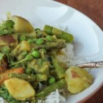 Karnataka Coconut Spring Vegetable Curry: regional Indian curry that can be customized to season!