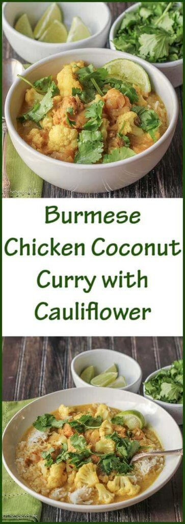 Burmese Chicken Coconut Curry with Cauliflower