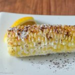 Middle Eastern Twist on Street Corn: Grilled Corn slathered in Lemon Garlic Sauce and sprinkled in Sumac