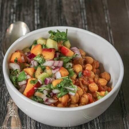 Chickpea Curry with Cucumber Salsa