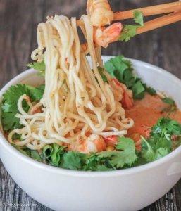 Creamy Tom Yum with Ramen Noodles
