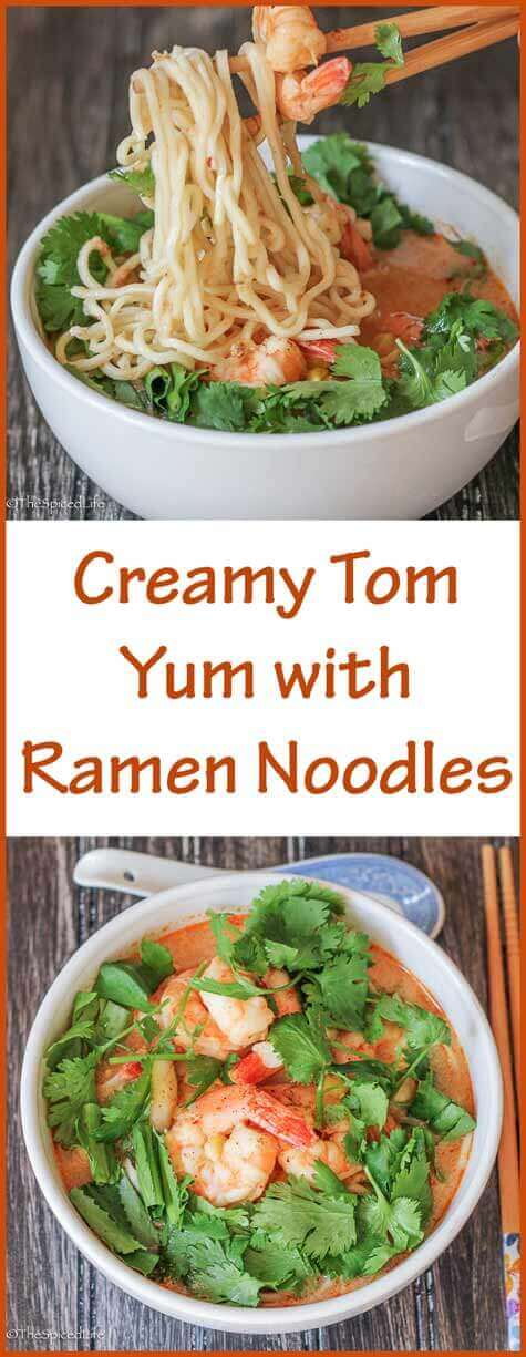 Creamy Tom Yum with Ramen Noodles