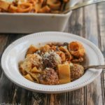Abruzzese Casserole with Meatballs and Pasta