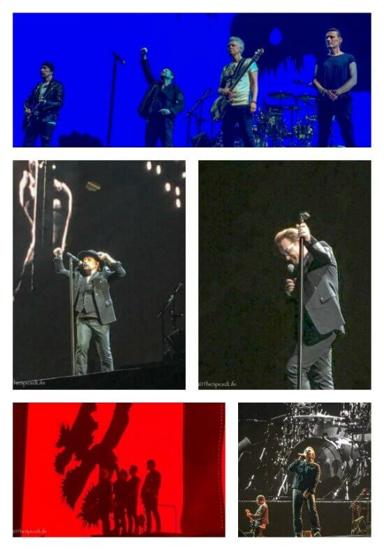 U2 Live in indianapolis on The Joshua Tree 2017 tour collage