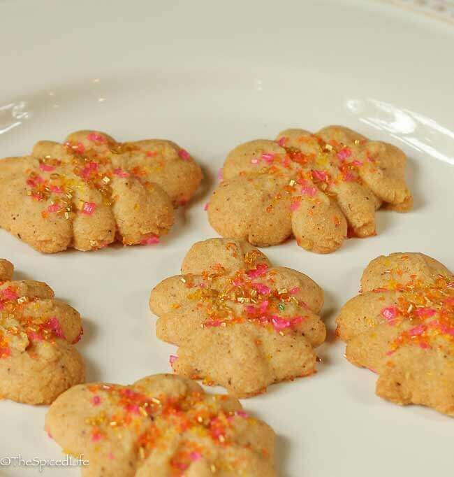 Spritz Cookies with Browned Butter, Chinese 5 Spice and Apple Brandy!