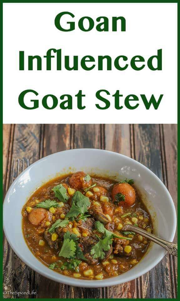 Goan Influenced Goat Stew for the Slow Cooker