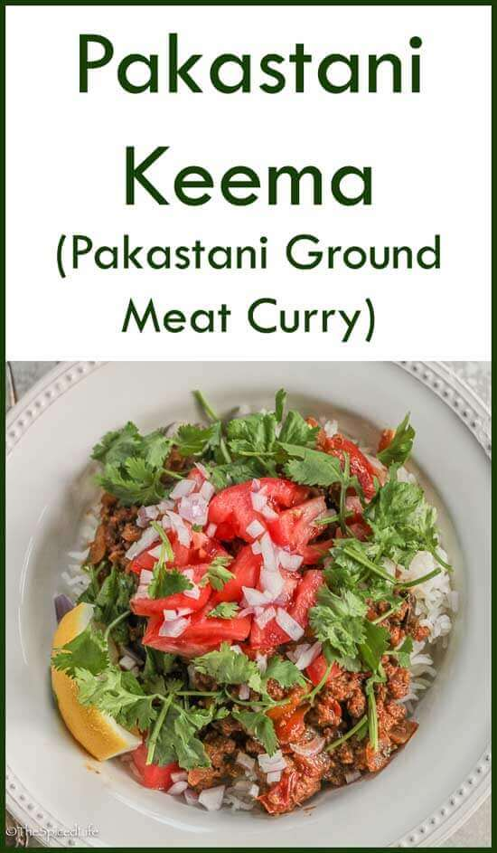 Pakastani Keema (or kheema, ground meat curry)