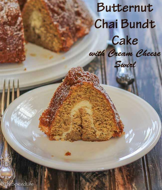 Butternut Chai Bundt Cake with Cream Cheese Swirl