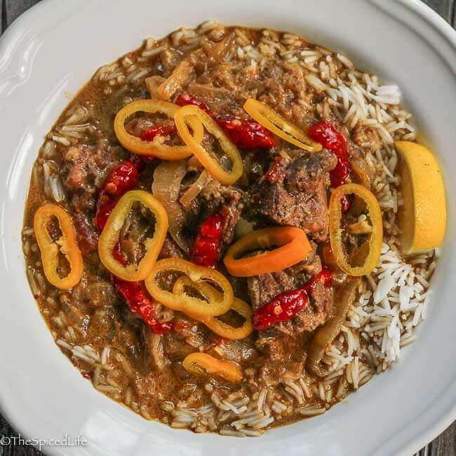 Sri Lankan Beef Curry in the slow cooker