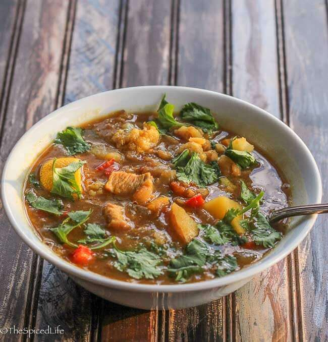 Curried Kitchen Sink Soup - The Spiced Life