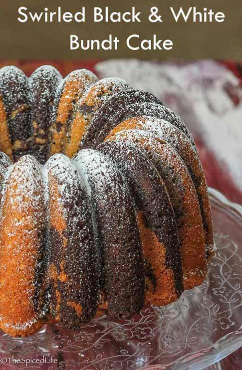 Swirled Black and White Bundt Bundt Cake