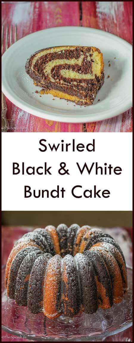 Swirled Black and White Bundt Cake